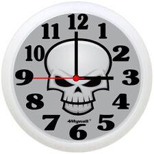 """Skull Wall Clock, 9"""" in."""