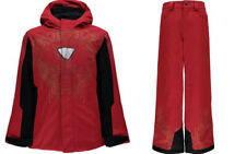 Spyder Boys Snow Suit Ski Set Marvel Hero Hooded Jacket & Pants,Size M (10 Boys)