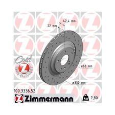 2x Bremsscheibe Bremse NEU ZIMMERMANN (100.3336.52)
