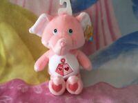 "NWT 10"" LOTSA HEART ELEPHANT CARE BEAR COUSIN BABY BOY GIRL GIFT COLLECTIBLE TOY"