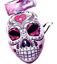 Day of the Dead Face Sugar Skull Costume Mask Mexican Senorita Halloween Adult