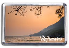 FRIDGE MAGNET - MARMARIS Turkey Collectable Holiday Souvenir Beach & Coastline