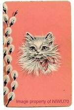 swap card VINTAGE playing card cats