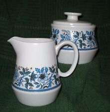Noritake - Blue Moon pattern  (White-#9022) - Creamer and Sugar Bowl with Lid