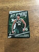 2019-20 Panini Optic My House Giannis Antetokounmpo Silver Prizm Insert SP