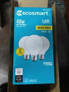 New 3-Pack 40-Watt Equivalent G25 Dimmable LED Light Bulb Bright White Frosted