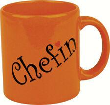 Waechtersbach Henkelbecher Becher Tasse Sprüchebecher Kaffeetasse CHEFIN neu