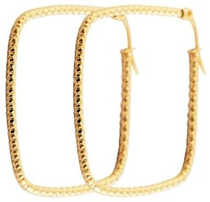 Quadratische Creolen, 40mm aus Edelstahl in Gold, ausgefallene Ohrringe Eckig
