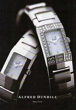 ▬► PUBLICITE ADVERTISING AD Montre Watch Alfred DUNHILL Baby Facet 1999