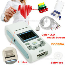 Touch 12-lead digital signal ECG Machine printer software ECG waveform ECG90A CE