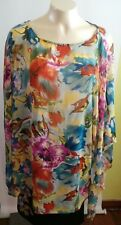 Women's Decorated Originals semi sheer floral top square size XL - XXL