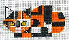 *Retired* Calico Cat Ornament Hp Needlepoint Canvas 18 mesh by Charley Harper