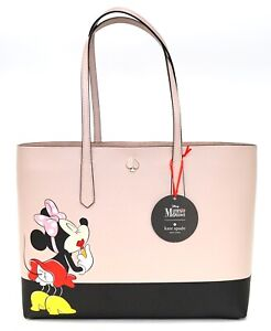 New Disney Parks Kate Spade New York Minnie Mouse Large Tote & Wristlet Set