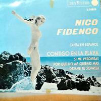 "NICO FIDENCO CANTA IN ESPANOL 7"" RARO E.P.  - CONTIGO EN LA PLAYA +3  ANNO 1964"