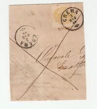 FRANCOBOLLI 1869 REGNO SEGNATASSE C.10 GIALLO CREMA 3/5 Z/1441