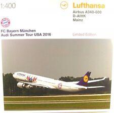 Herpa Wings 1/400 Lufthansa Airbus A340 Bayern Munich AUDI Summer Tour USA 2016