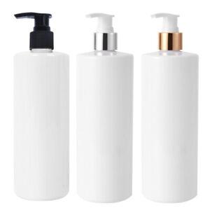 3Pcs 500ml Soap Dispenser Bottle Pump Plastic Liquid Bathroom Shampoo Empty New
