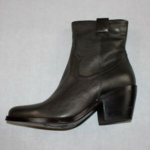 Mjus Brown Leather Western Cowboy Ankle Boots Size 37 UK 4 BNWB