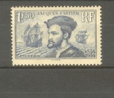 "FRANCE STAMP TIMBRE N° 297 "" JACQUES CARTIER AU CANADA 1F50 BLEU "" NEUF xx TTB"