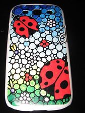 Lady Bugs Hard Cover Case for Samsung S3 III Lady Bugs on Mosaic Pattern