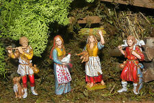 "Landi Nativity Scene Villager 3"" H Figurines Set of 4 for Presepio Pesebre"
