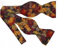 Fall Leaves Bow tie / Colorful Autumn Leaves in a Dark Forest / Self-tie Bow tie