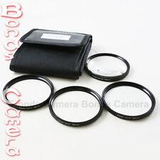 77mm 77 mm Macro Close Up Kit Filtro +1 +2 +4 +10 per Canon Nikon Videocamera + Custodia