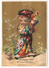 Faith Whitcomb's Balsam Asian Boy Spinning Top Victorian Trade Card Business