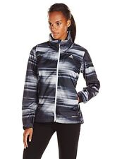 ADIDAS WOMENS WANDERTAG GRAPHIC JACKET BLACK/GREY SIZE XL A96903