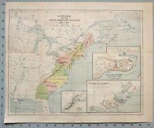 MAP/BATTLE PLAN CANADA NORTH AMERICAN COLONIES 1680-1760 SIEGE LOUISBURG QUEBEC