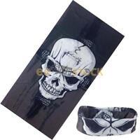Foulard Halloween Crâne Noir Masque masque cache nez motard squelette