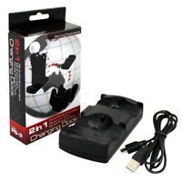 for Playstation 3 PS3/MOVE Dual Controller Charger Charging Dock Wireless Stand