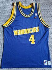 Vtg Champion Rookie Chris Webber Golden State Warriors Jersey Men's Size 48 NBA