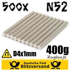 500x Neodym Magnet Scheibe D4x1mm N52 - Whiteboard Geocaching Magneten basteln
