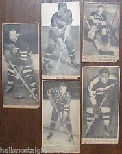 5 vintage Hockey Player Photos (from newspaper) Art Wiebe,John Polich,G. Henry