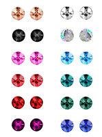 12 Pairs Sterilized Surgical Steel Stud Earrings Prong Set Birthstones Piercing