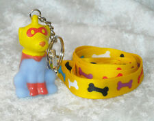AMERICAN Heart ASSOCIATION SUPER PUP Key chain ring Dog Keychain WITH LANYARD!