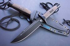 10.5'' New SOG Wood Handle Boot Dagger Survival Fixed Bowie Hunting Knife S21T