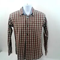 Tommy Hilfiger Mens Long Sleeve Red/Green/White Check Shirt Size L