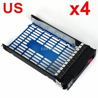 "4PCS HP 3.5"" Hot Swap SAS SATA HDD Caddy For Proliant DL160 DL180 DL320 G5 G6"