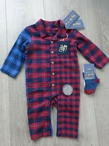 M&S MARKS & SPENCER HARRY POTTER BABY ALL IN ONE WITH SOCKS AGE 3-6 MONTHS