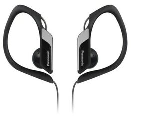 Panasonic Black In-Ear Cable Headphones Sports Clip Water Res - Black RP-HS34E