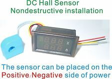 DC 100V 300A Panel Meter With CT Charge Discharge Status Battery Gauge Red Blue