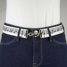 Music Notes Elastic Belt Made in UK