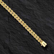 "14k Yellow Gold Two Strand Multi Line Rope Bracelet 7"" 5 MM 7 grams"