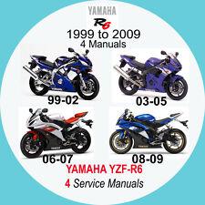 YAMAHA YZF-R6 1999-2009 SERVICE MANUAL (4 MANUALS on 1 CD) 99, 03, 06 & 08 A2
