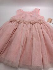 Girls Pink Holiday Dress Nanette Lepore Size 12 Months S1