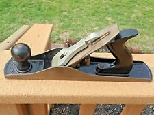 "VINTAGE STANLEY BAILEY 14"" WOOD PLANE No. 5 SMOOTH BASE HAND PLAIN"