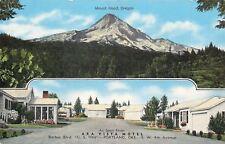 Portland Oregon~Ara Vista Motel~Mount Hood~SW 4th~Avenue~1940s Linen Roadside
