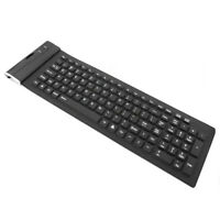 USB Flexible Silicone Keyboard Foldable Waterproof for Laptop Notebook Computer